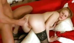 Awesome intercourse on New Year's Eve from hot chap being Santa