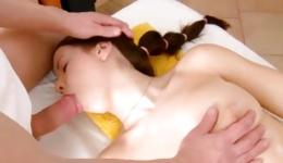 Amazing masseur caressing the body of elegant and lecherous dame