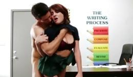 Passionate copulation involving splendid gal with huge funbags and her professor