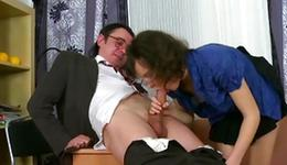 Curly savory doxy is getting her smashed in a shameless doggystyle