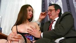 Kissable little one doxy is giving a deepthroat a greater aged fake penis