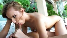 Sandy colored hoe is bending amid blowjayed her anal opening
